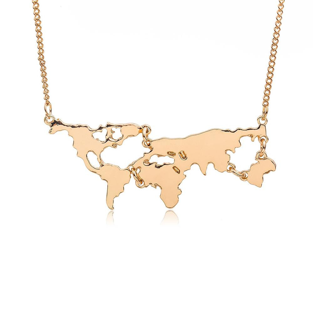 Vintage World Map Pendant