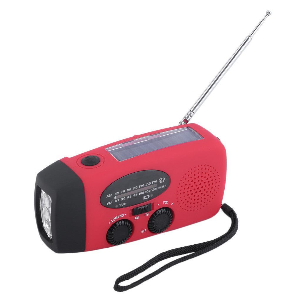 Emergency Crank Radio and LED Flashlight