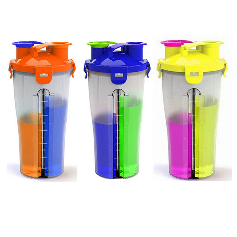 850ml Two Compartment Sports Beverage Bottle 5 Star Sales Outlet