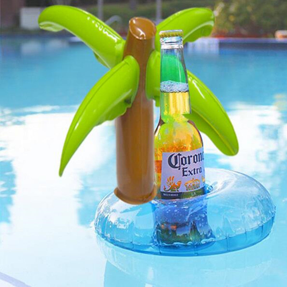 Inflatable Palm Tree Drink Holder Float
