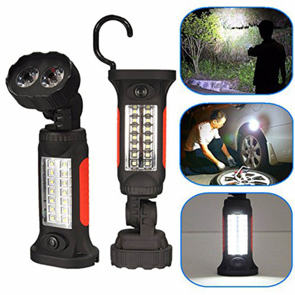 360 Degree Head Rotation - 16 LED Super Bright Hand Torch with Hook