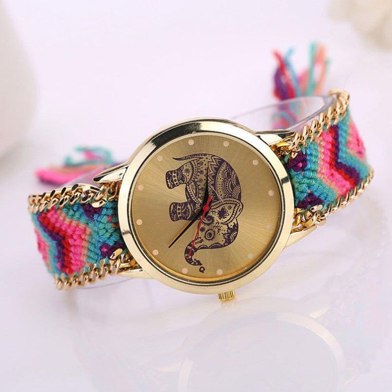 Vintage Women Elephant Dreamcatcher Watch