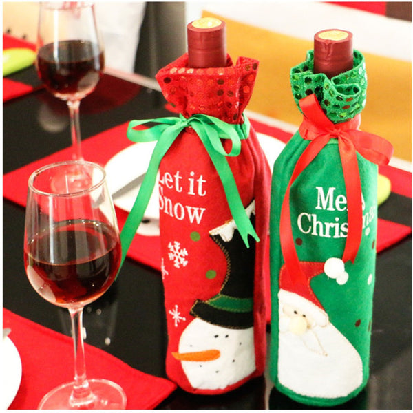 Christmas Wine Bottle Bag