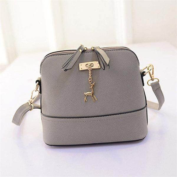 SMALL CROSS BAG DEER SPLICED COLLISION COLOR