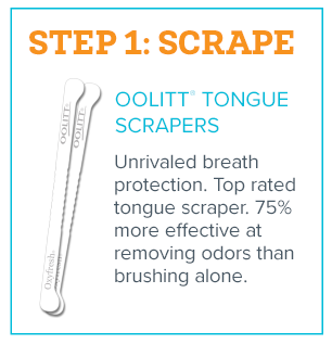 Fresh Breath in 3 Steps - Step 1 - Scrape