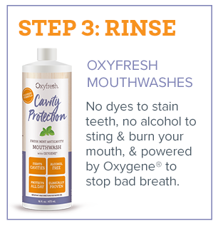 Fresh Breath in 3 Steps - Step 3 - Rinse