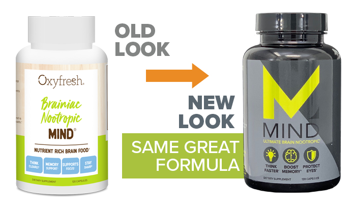 Oxyfresh - Fresh Breath Lemon Mint Mouthwash old look to new packaging