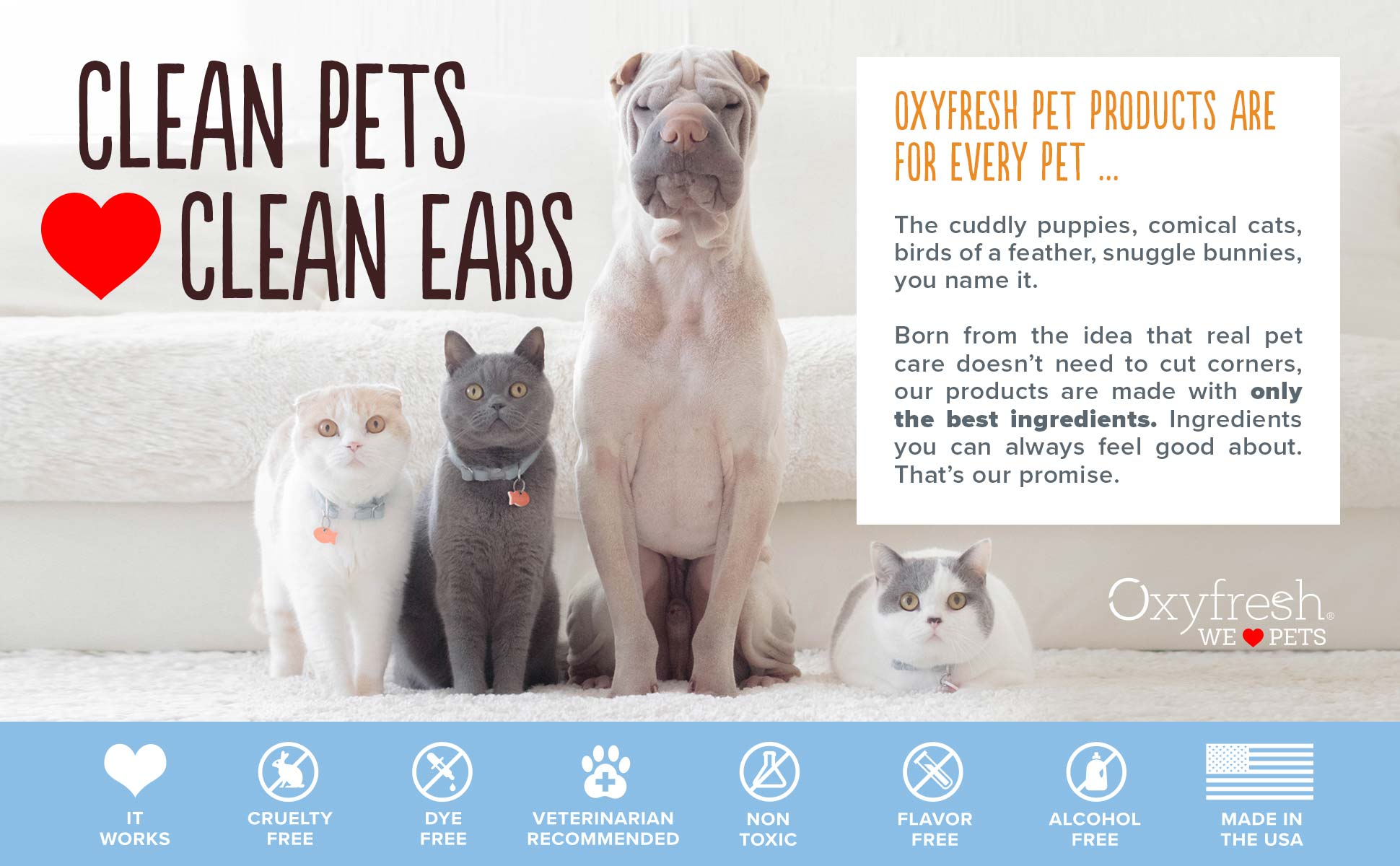 Oxyfresh - Clean pets love clean ears