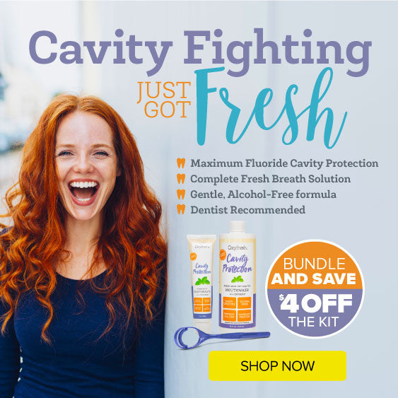 Oxyfresh Deals and Coupons - Cavity Fighting Kit prevents cavities with high fluoride mouthwash and non-abrasion toothpaste