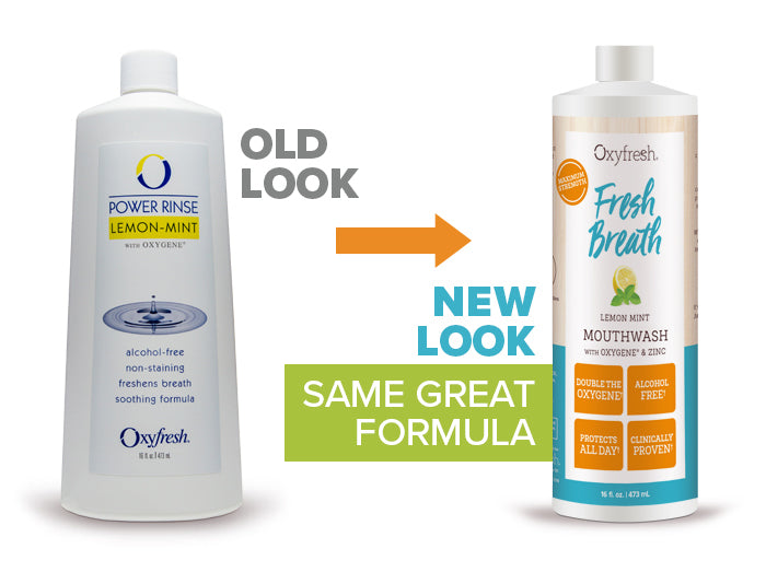 Oxyfresh - Lemon Mint Mouthwash old look to new packaging