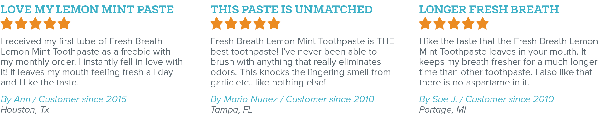 Oxyfresh - Eliminate Bad Breath - Fresh Breath Lemon Mint Toothpaste Reviews