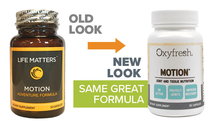 Oxyfresh - Motion old look to new packaging