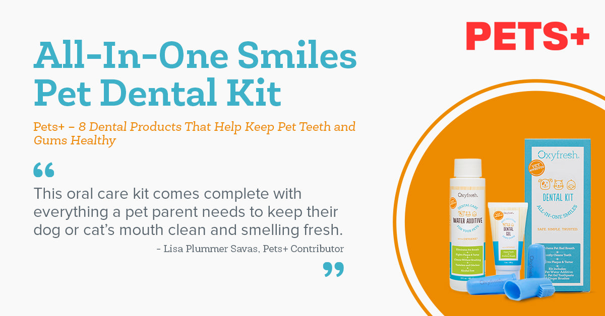 Oxyfresh Pet Dental Kit featured in Pets+ Magazine