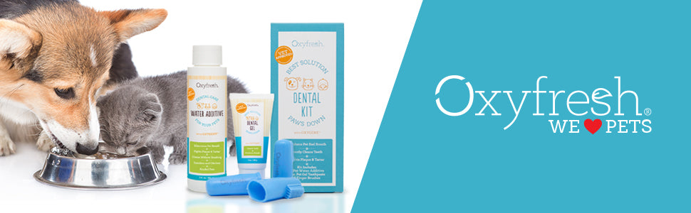 Oxyfresh - Pet Dental Kit - Get rid of smelly dog and cat breath easily