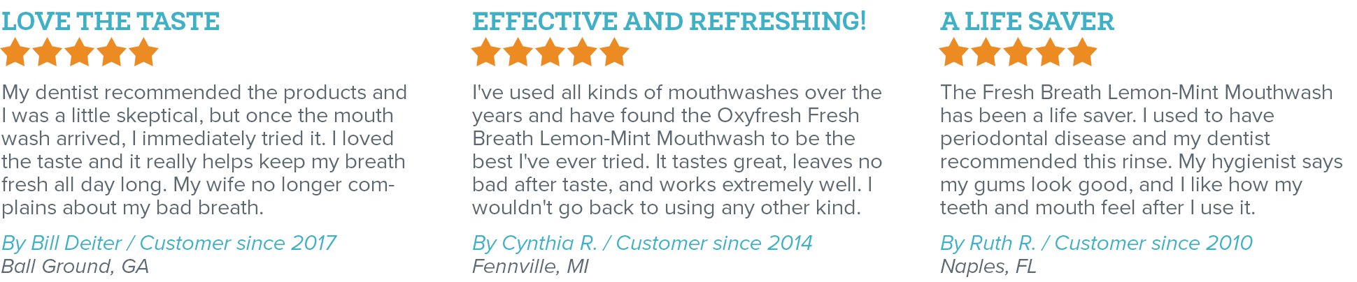 Oxyfresh - Eliminate Bad Breath - Fresh Breath Lemon Mint Mouthwash Reviews