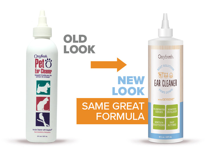 Oxyfresh - Pet Ear Cleaner old look to new packaging