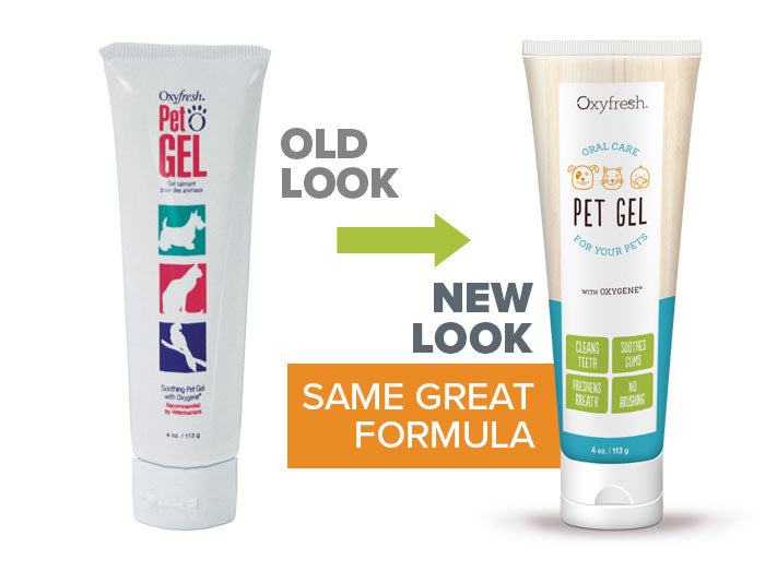 Oxyfresh - Pet Water Additive old look to new packaging