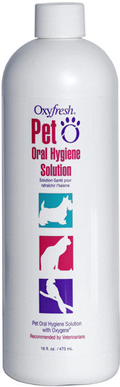 Breath freshening water additive for pets