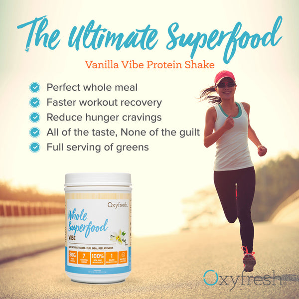 Vibe Whole Superfood Protein Powder: Rich Vanilla Flavor