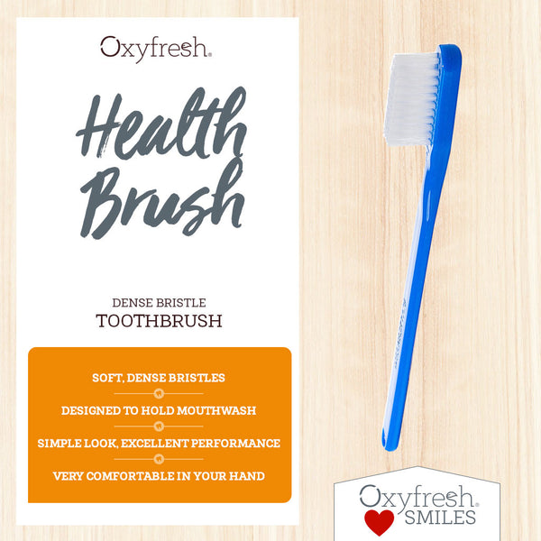 Oxyfresh - comfortable dense bristle toothbrush to apply mouthwash to the gum line