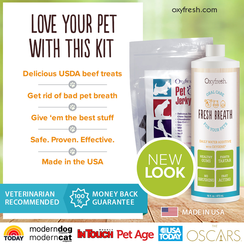 Oxyfresh - Pet treats and oral care kit, great for your favorite dog or cat or as a gift for a pet parent - Pet's Best Friend Kit
