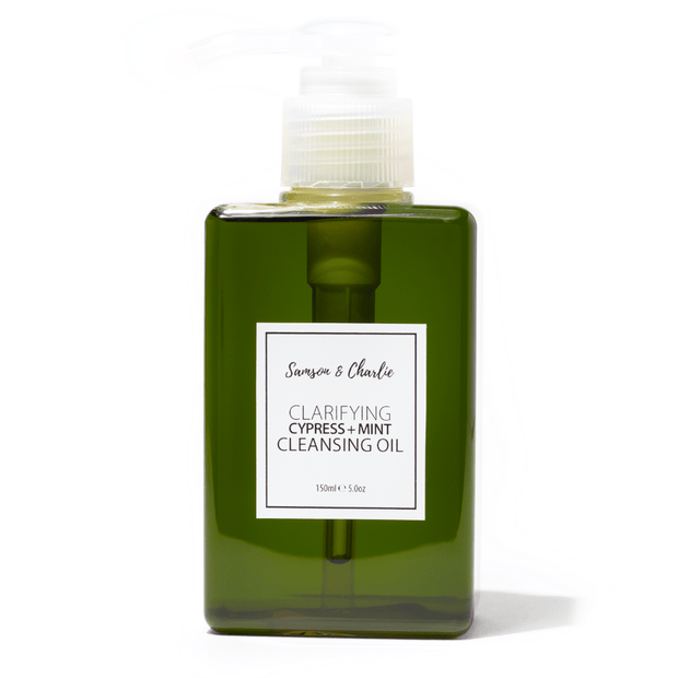Samson & Charlie Cleansing Oil 150ml Clarifying Cypress + Mint  Cleansing Oil
