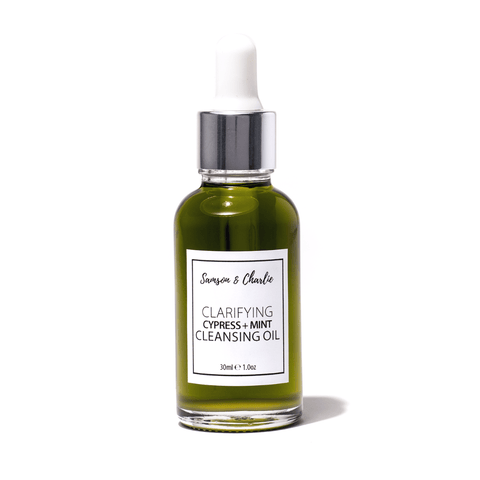 Samson & Charlie Cleansing Oil 30ml Clarifying Cypress + Mint  Cleansing Oil