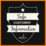 Safe Customer Information Badge - d'143 Men's Clothing