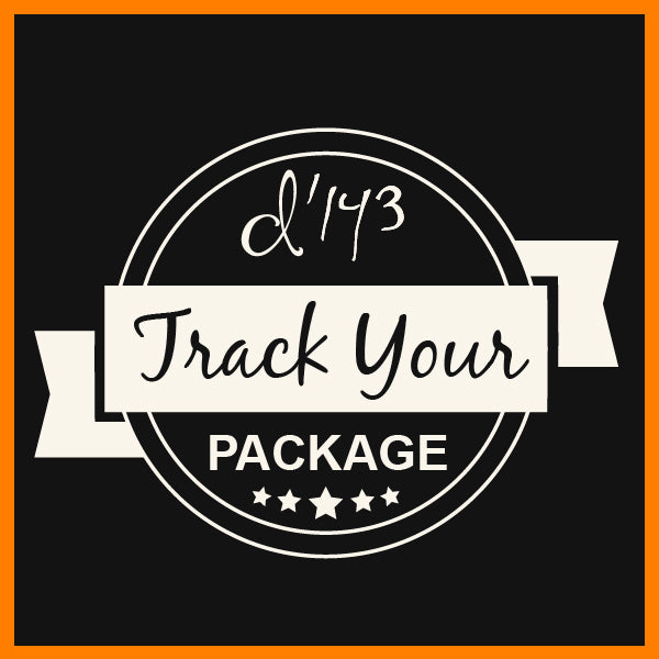 Track Your Package - d'143 Men's Clothing