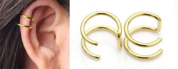 2-Tired Ear Cuff Earring - d'143 Men's Clothing