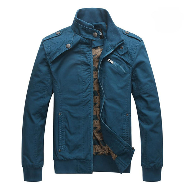 Stand Collar Cotton Coat - d'143 Men's Clothing