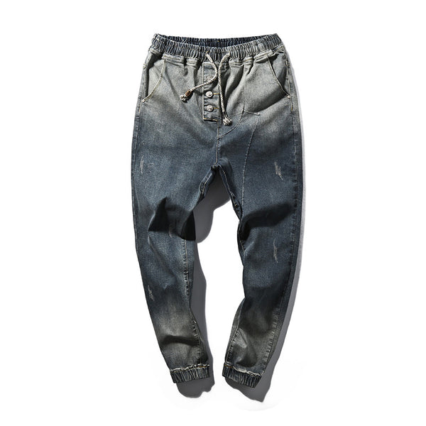 England Tide Denim Harem Pants - d'143 Men's Clothing