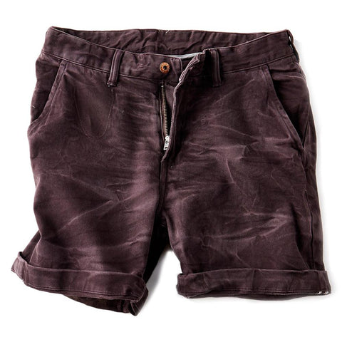 Vintage Stonewash Purple Denim Shorts for Men