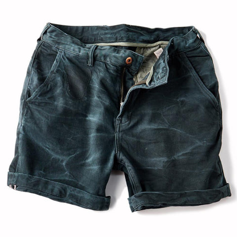 Vintage StoneWashed Turquoise Denim Short for Men - d'143 Men's Clothing