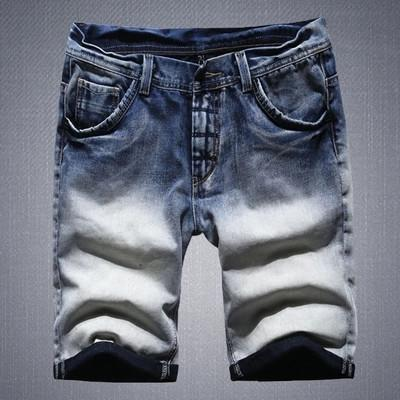 Casual Gradient Denim Shorts -d143 Mens clothing and unique fashion