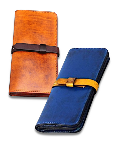 3-in-1 Genuine Leather Wallet, Phone Case & Pocket Organizer-d'143 Mens Clothing