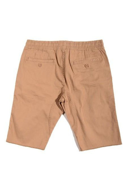 Tan Medium Drop-Crotch Everyday Shorts - d'143 Men's Clothing
