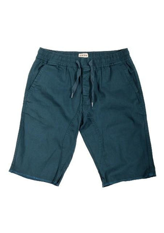 Turquoise Medium Drop-Crotch Everyday Shorts - d'143 Men's Clothing