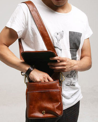 Leather Project Bag - d'143 Men's Clothing