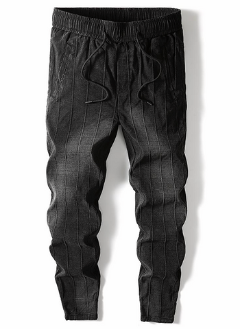 Pencil Striped Harem Trouser Pants for Men - d'143 Men's Clothing