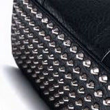 Thick Leather Studded Bottom Weekender Bag - d'143 Men's Clothing