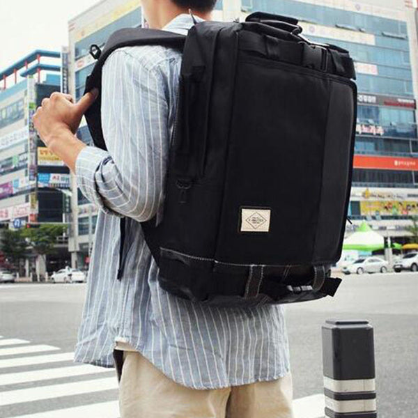 Pack-Light-Fly-Right Leather Stitching High-Capacity Backpack - d'143 Men's Clothing