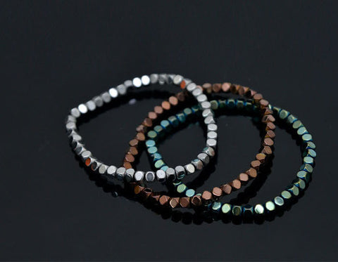3 Square Beaded Bracelet - d'143 Men's Clothing