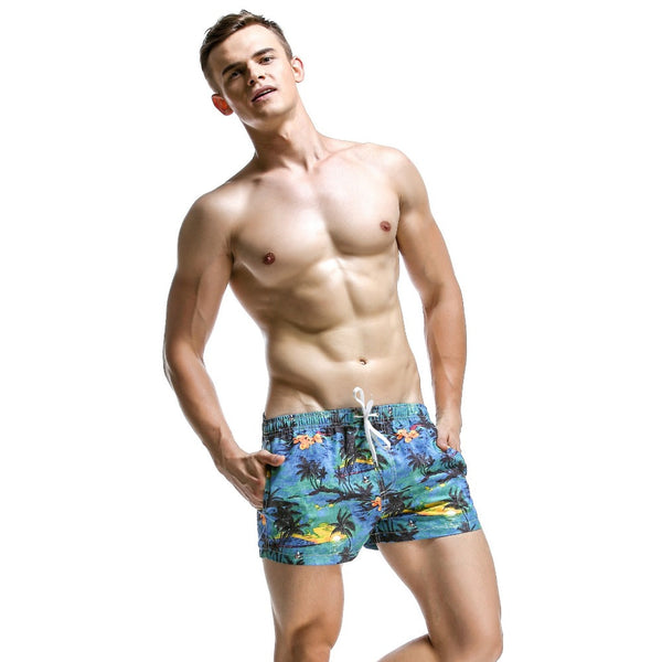 Quick Dry Summer Bermuda Swimsuit Boardshorts - d'143 Men's Clothing