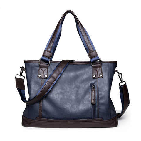Casual Leather Crossbody Shoulder Bag - d'143 Men's Clothing