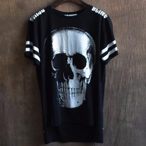 Skull Short Sleeve T Shirt - d'143 Men's Clothing