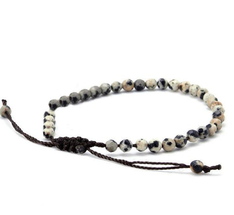 Simple Handmade Natural Stone Bracelet - d'143 Men's Clothing
