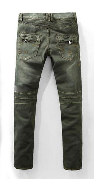 Distressed Denim Moto Jean Pants - d'143 Men's Clothing