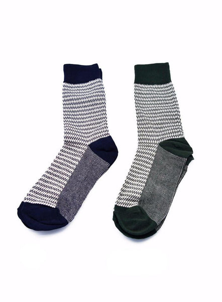 Contrast Pattern Socks* - d'143 Men's Clothing