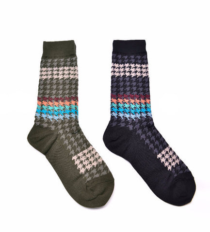 Houndstooth Pattern Socks - d'143 Men's Clothing